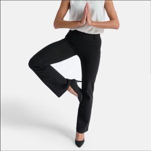 Betabrand Black Boot Cut Dress comfort Pants Sz LP